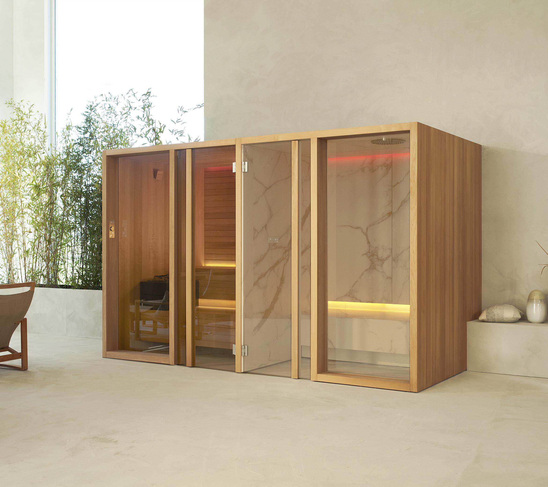 Sistema YOKU SH di Effe con sauna e hammam